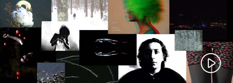 Assemblage de capture écran des vidéos de Jessica Luhahe pour la page video de son site internet